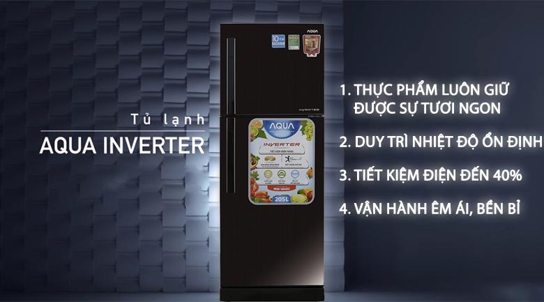 Tủ Lạnh Inverter Aqua AQR-I209DN-DC (186L)