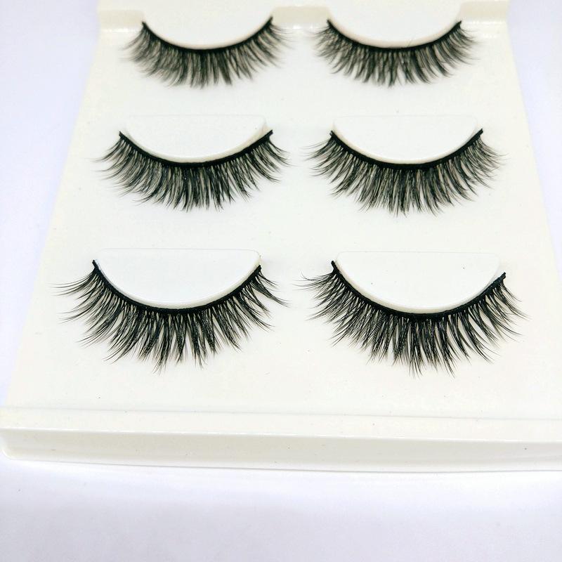 Lông mi giả lông chồn 3 Fashion Eyelashes 3 Faux-Cils 3D 1 bộ 3 cặp 59
