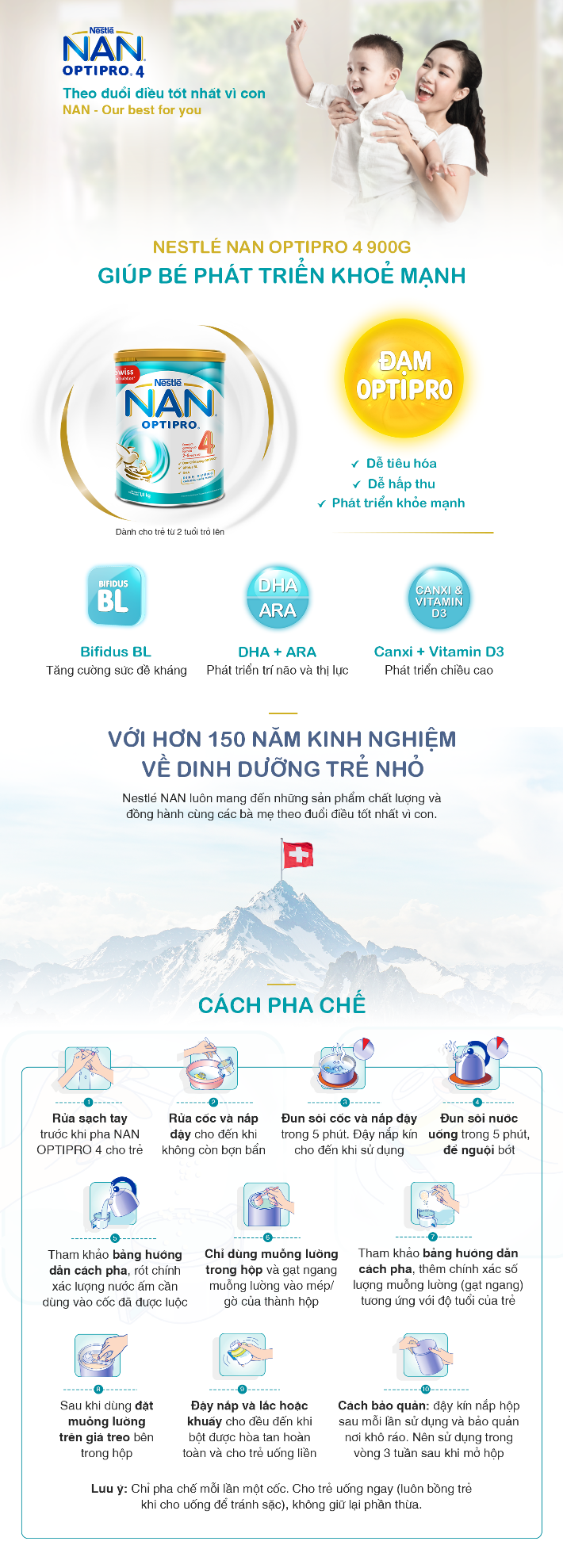 CRM - Sữa Bột Nestle NAN Optipro 4 (900g)