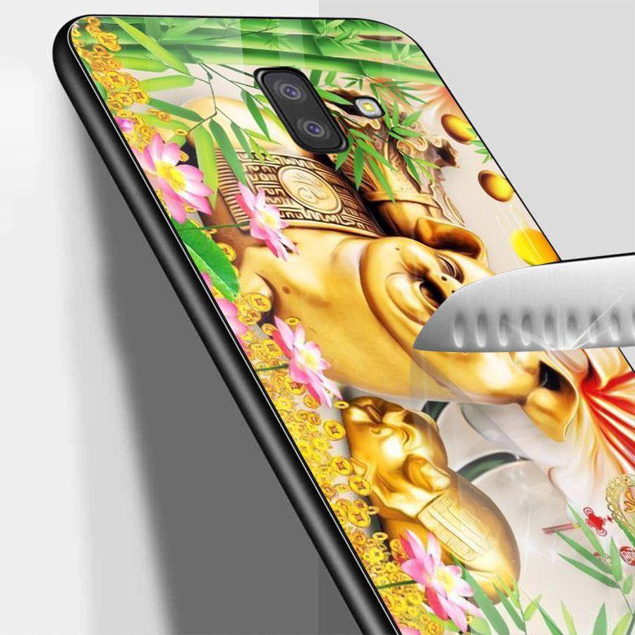 Ốp kính cường lực cho điện thoại Samsung Galaxy J4 - thần tài kim MS TTKIM039