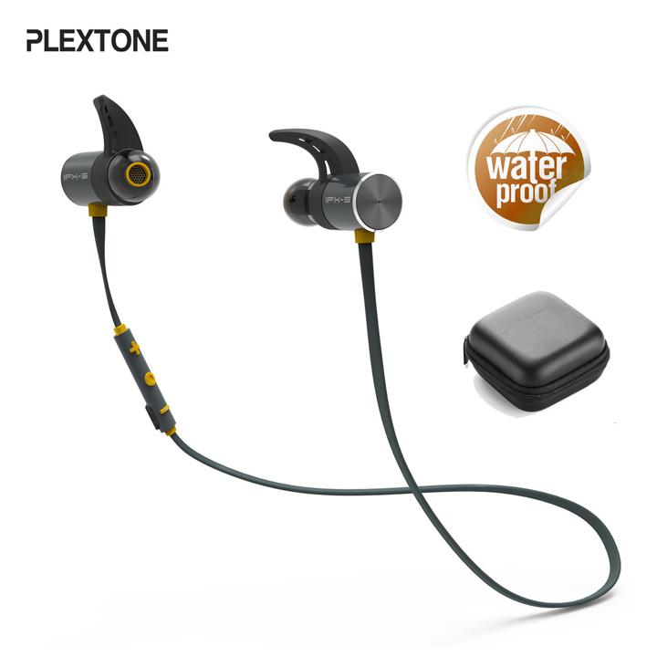 Tai nghe bluetooth sport thể thao chống nước Plextone BX343 – kháng nước IPX5, pin siêu trâu 8 tiếng