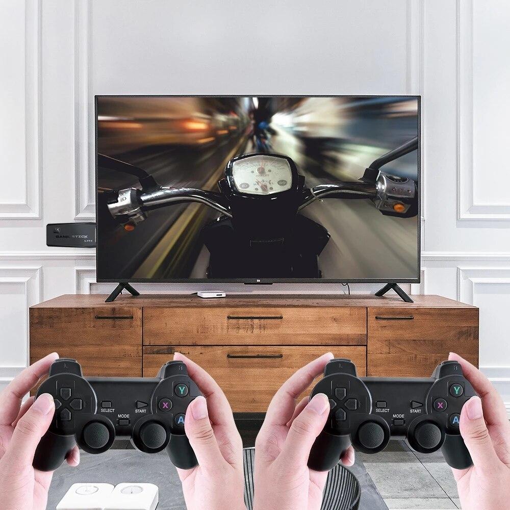 Bộ máy game stick 4K PS3000 tay cầm không dây - Máy chơi game điện tử HDMI hai người chơi kết nối TV 32G 64G Máy chơi game khác tay cầm joystick - Tặng file game đua xe thú. 2