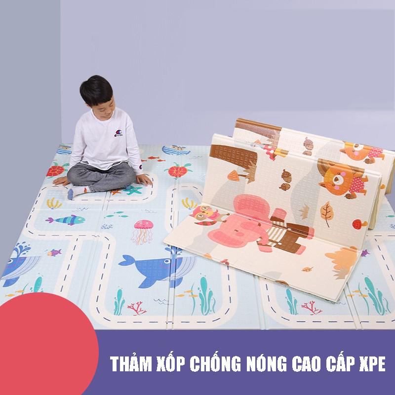 Thảm chơi cho bé Công nghệ Hàn Quốc phủ silicon chống thấm 2 mặt, nhiều mẫu 8
