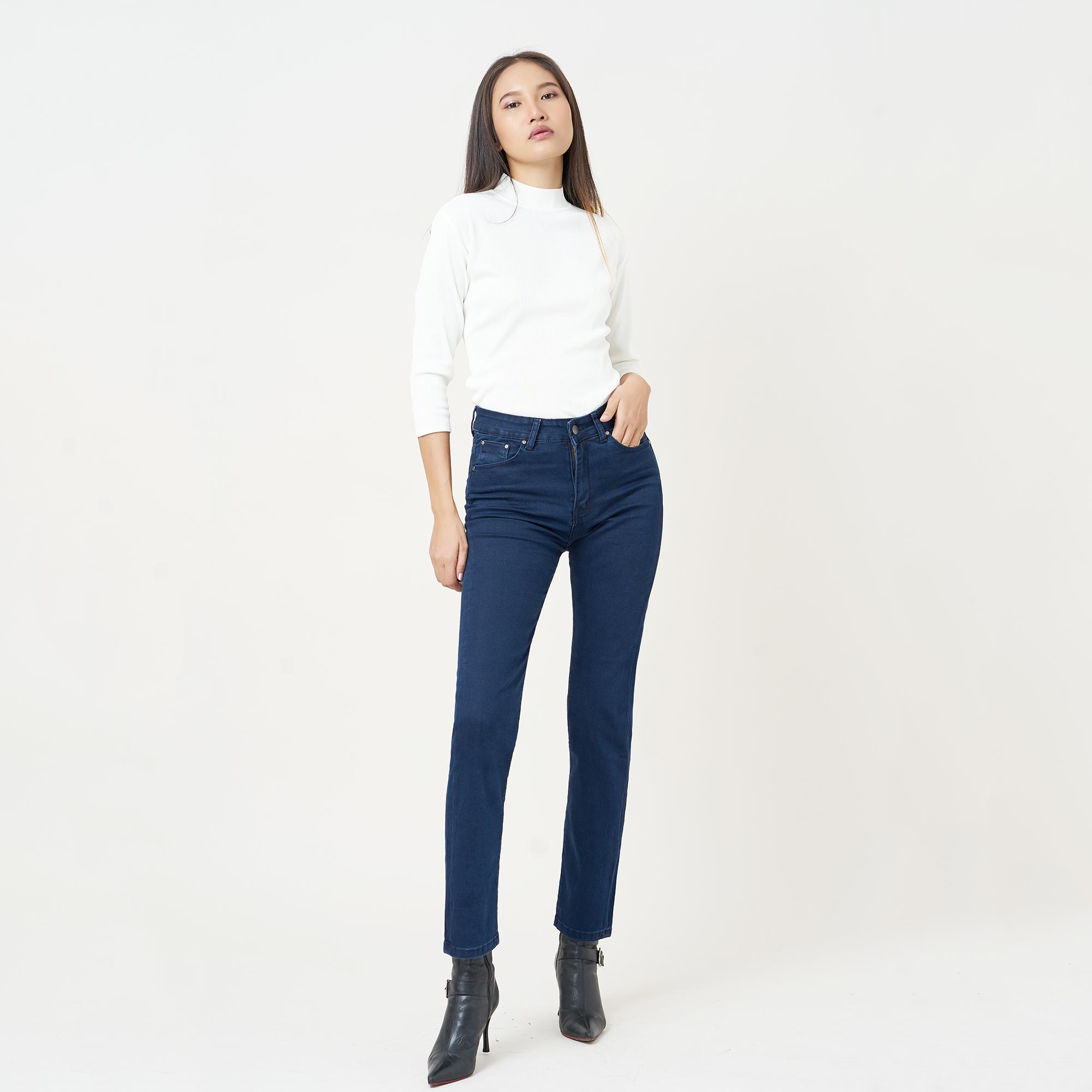 Quần Jean Nữ Ống Đứng Lưng Cao Aaa Jeans Có Nhiều Màu Size 26 - 32 6