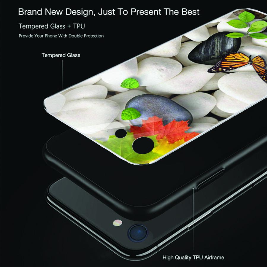 Ốp điện thoại kính cường lực cho máy iPhone 6 Plus/6s Plus - bướm đẹp MS BUOMD015