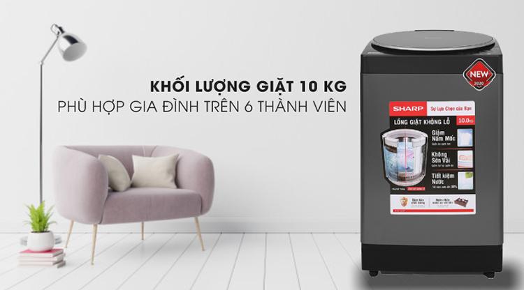 Máy giặt Sharp 10 kg ES-W100PV-H - Chỉ giao HCM