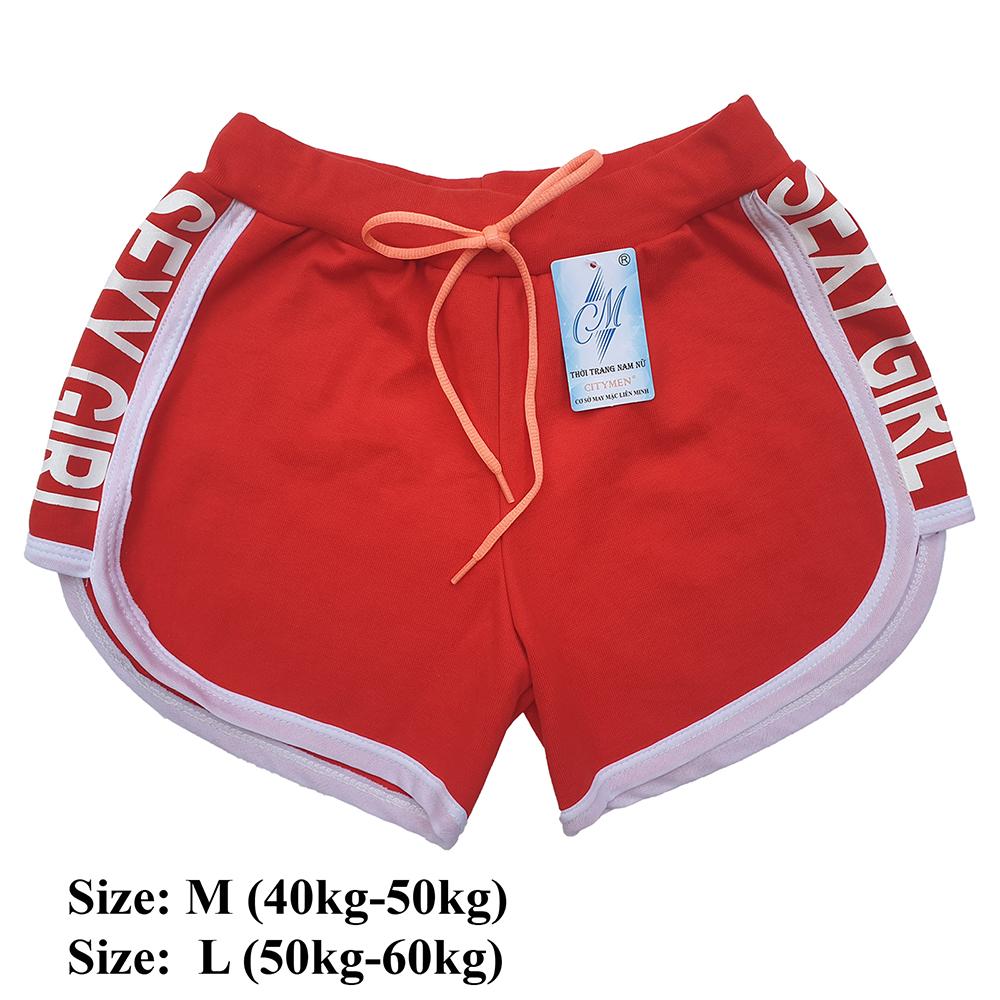 Combo 5 Quần đùi nữ SEXY GIRL dây rút, thể thao, tập gym, yoga, mặc nhà, giá rẻ, quần short nữ cao cấp ( Giao màu ngẫu nhiên ) 5