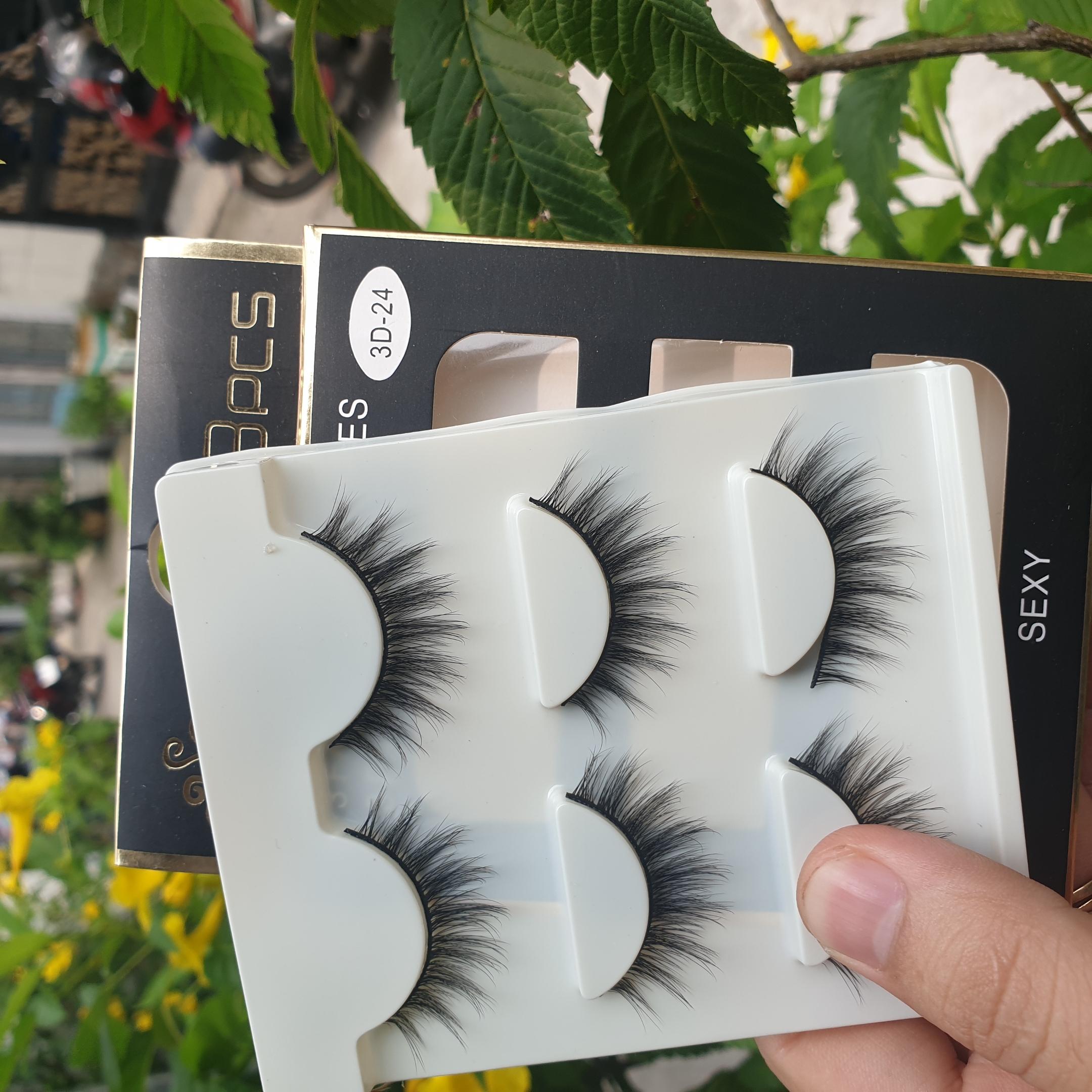 Lông mi giả lông chồn 3 Fashion Eyelashes 3 Faux-Cils 3D 1 bộ 3 cặp 96