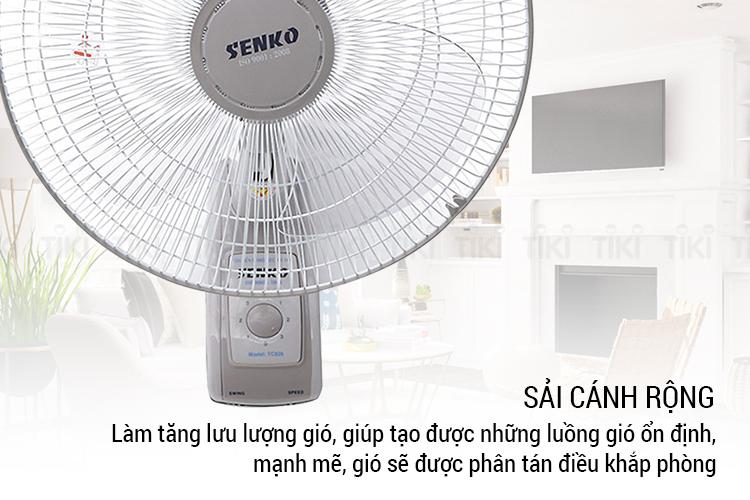 Quạt treo tường 2 dây SENKO TC1626 - Hàng Chính Hãng