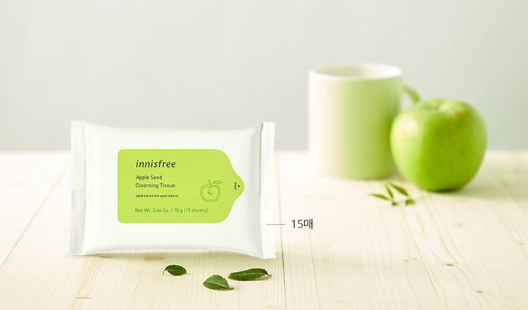 Khăn ướt tẩy trang Innisfree Apple Seed Cleansing Tissue 15 tờ-131171061