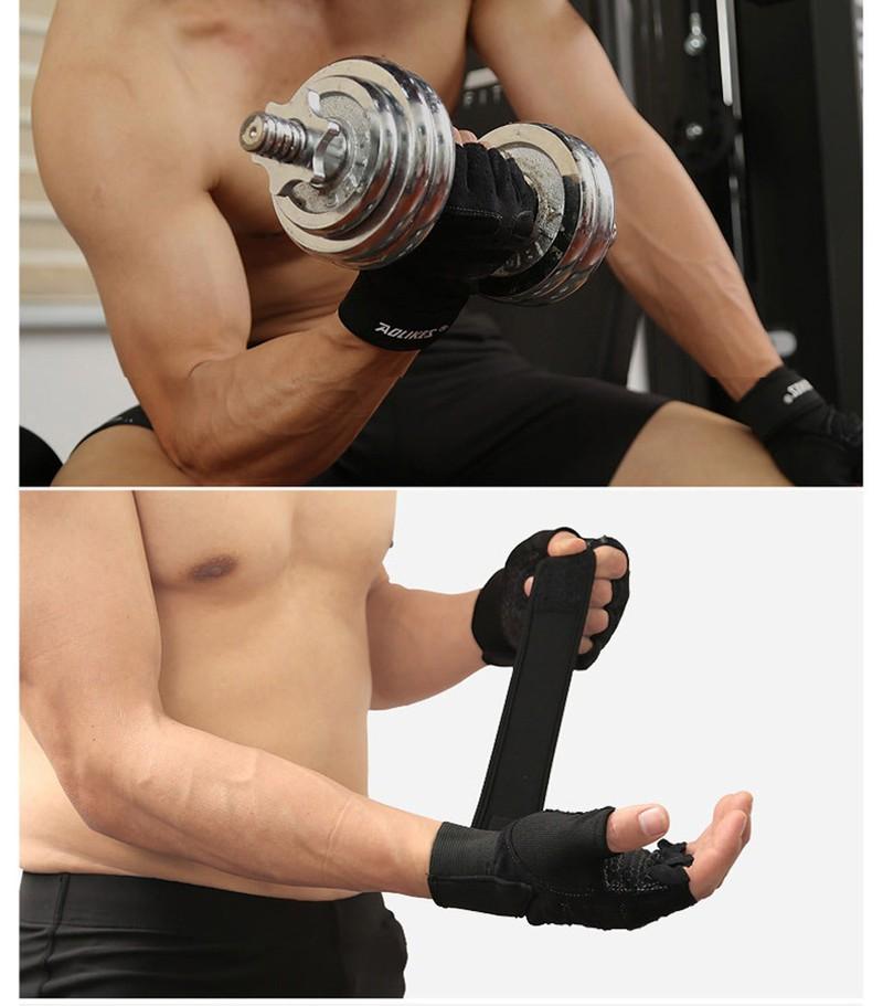 Găng tay tập gym có quấn cổ tay VJ1125 3