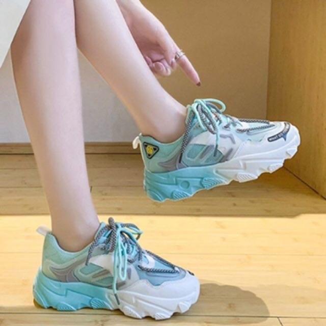 Giày thể thao nữ đế phối 1 2 màu cực chất 3