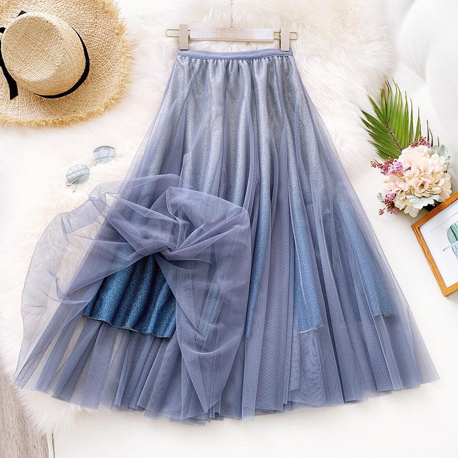 Váy xòe lưới tutu loang mầu lấp lánh VAY53 2