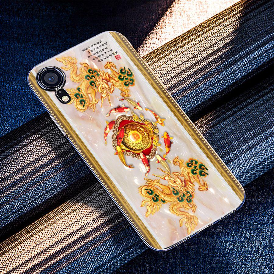 Ốp điện thoại kính cường lực cho máy iPhone XS MAX - cá chép MS CACHEP006