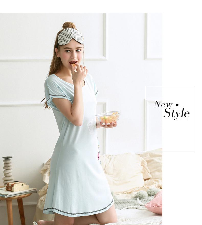 Đầm Ngủ Nữ Cotton Mỏng Đơn Giản Thoải Mái FENTENG X97209567