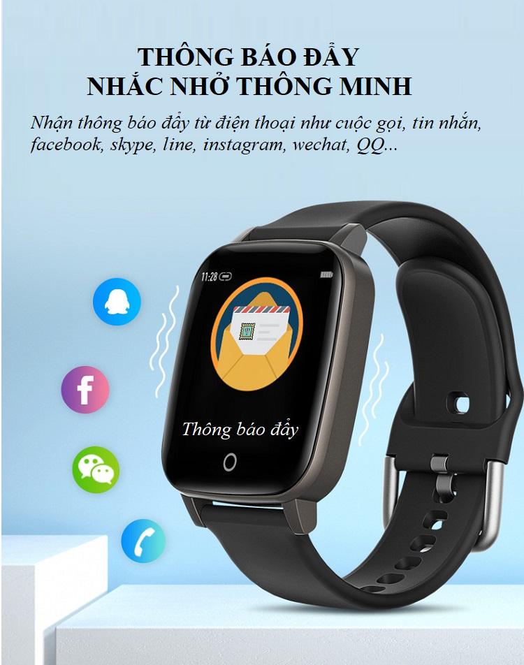 Đồng hồ theo dõi sức khỏe đa năng T_1_Q - Đồng hồ thông minh 13