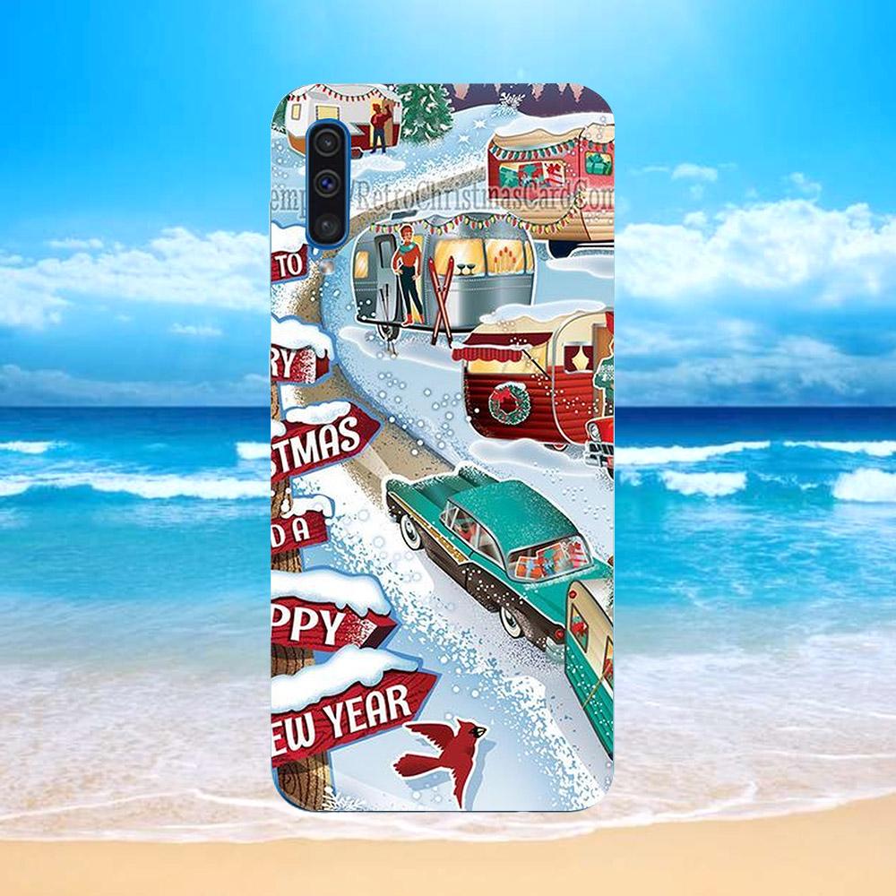 Ốp lưng cứng viền dẻo dành cho điện thoại Samsung Galaxy J8 - giáng sinh đầm ấm MS GSDA024