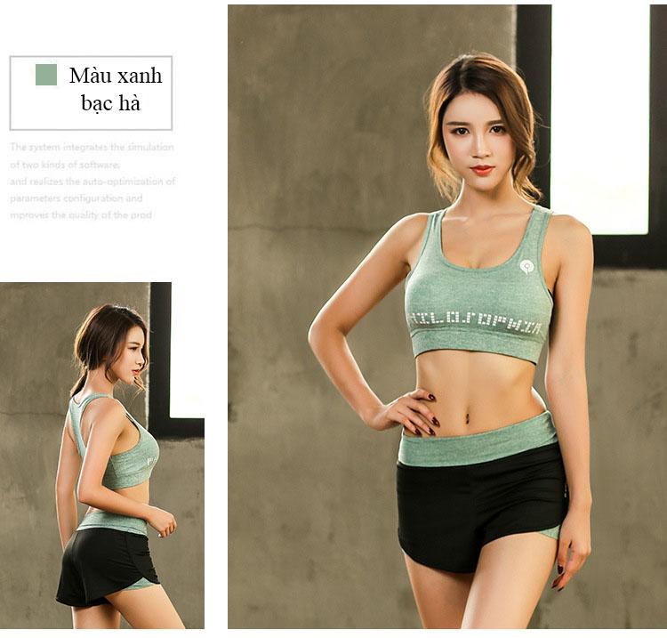 Set Bộ 3 đồ quần áo thun thể thao nữ áo ngoài zen năng động ( Đồ Tập Gym, Yoga, Aerobic ) mã 8808 18