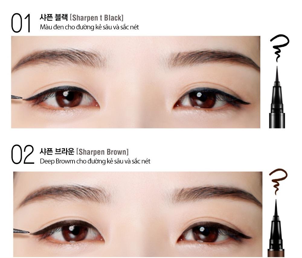 Kẻ mắt nước Bbia Last Pen Eyeliner 0.6g (5 màu) 2
