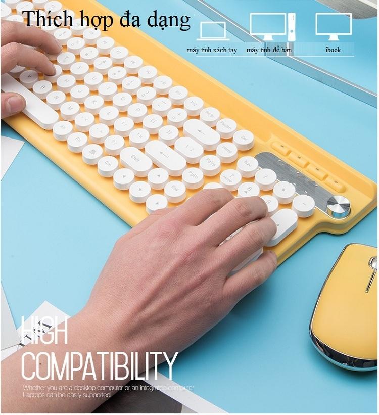 Bộ bàn phím và chuột không dây cao cấp -500 14