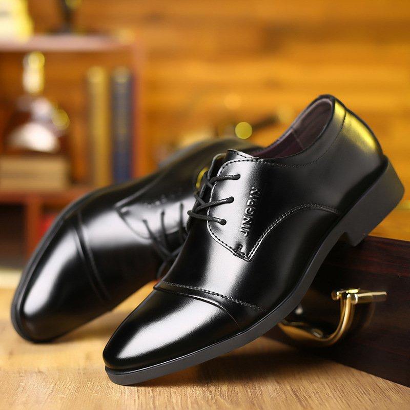 Giày da thật nam giày da nam cao cấp giày nam công sở sang trọng, phong cách thời trang giày da cao cấp giày nam mẫu mới mã 8867-A 12