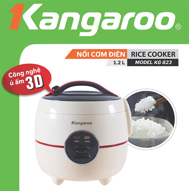 Nồi Cơm Điện 1,2L Kangaroo KG823