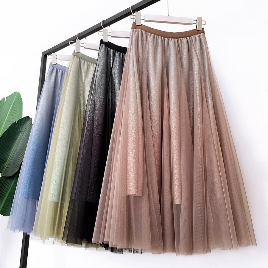 Váy xòe lưới tutu loang mầu lấp lánh VAY53 20