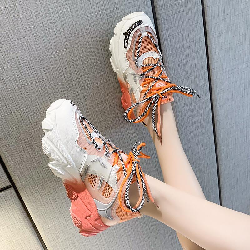 Giày thể thao nữ, giày sneaker nữ lưới đế 3 màu thời trang Hàn Quốc 4