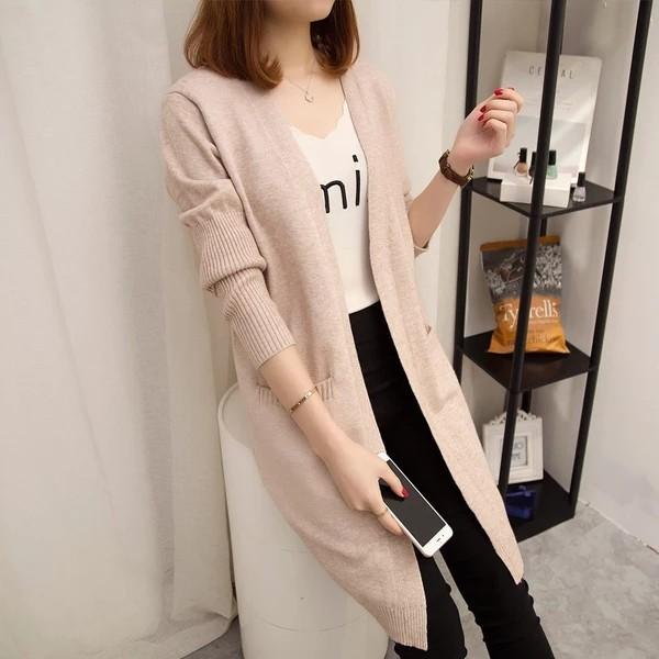 Áo len nữ cardigan dáng dài phong cách trẻ trung 6