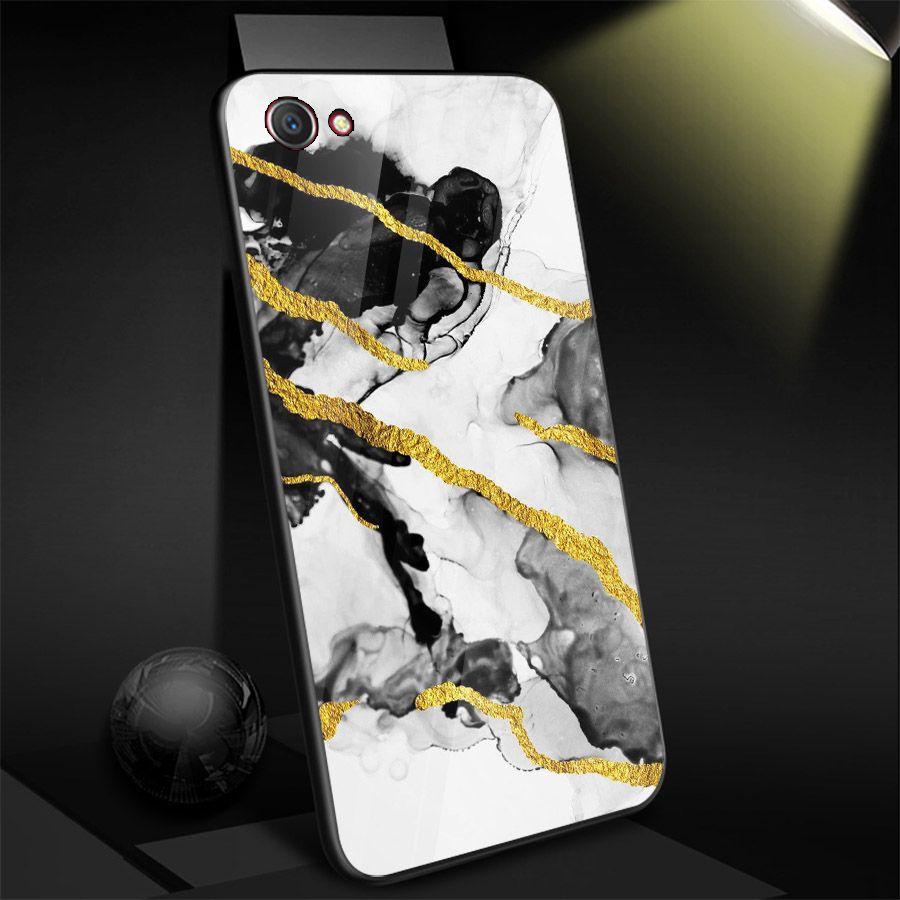 Ốp điện thoại kính cường lực cho máy Oppo A79 - hình vân Đá MS VANDA011