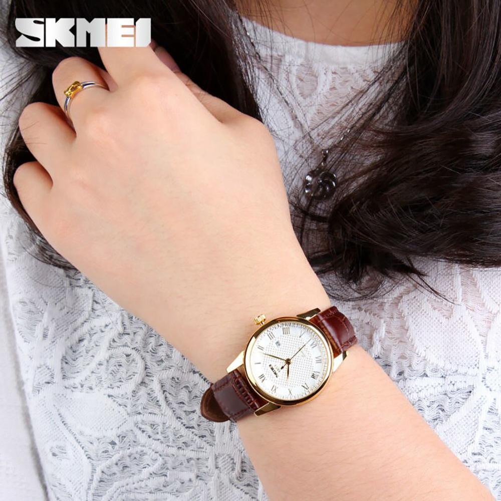 Đồng hồ nữ dây da Skmei 90TCK58 1