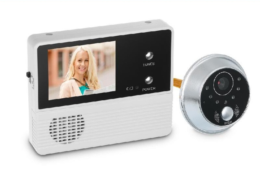 "2.4"" TFT LCD Screen Digital Peephole Viewer Camera Door Monitor Electronic Digital Door Monitoring for Home Security Doorbell"