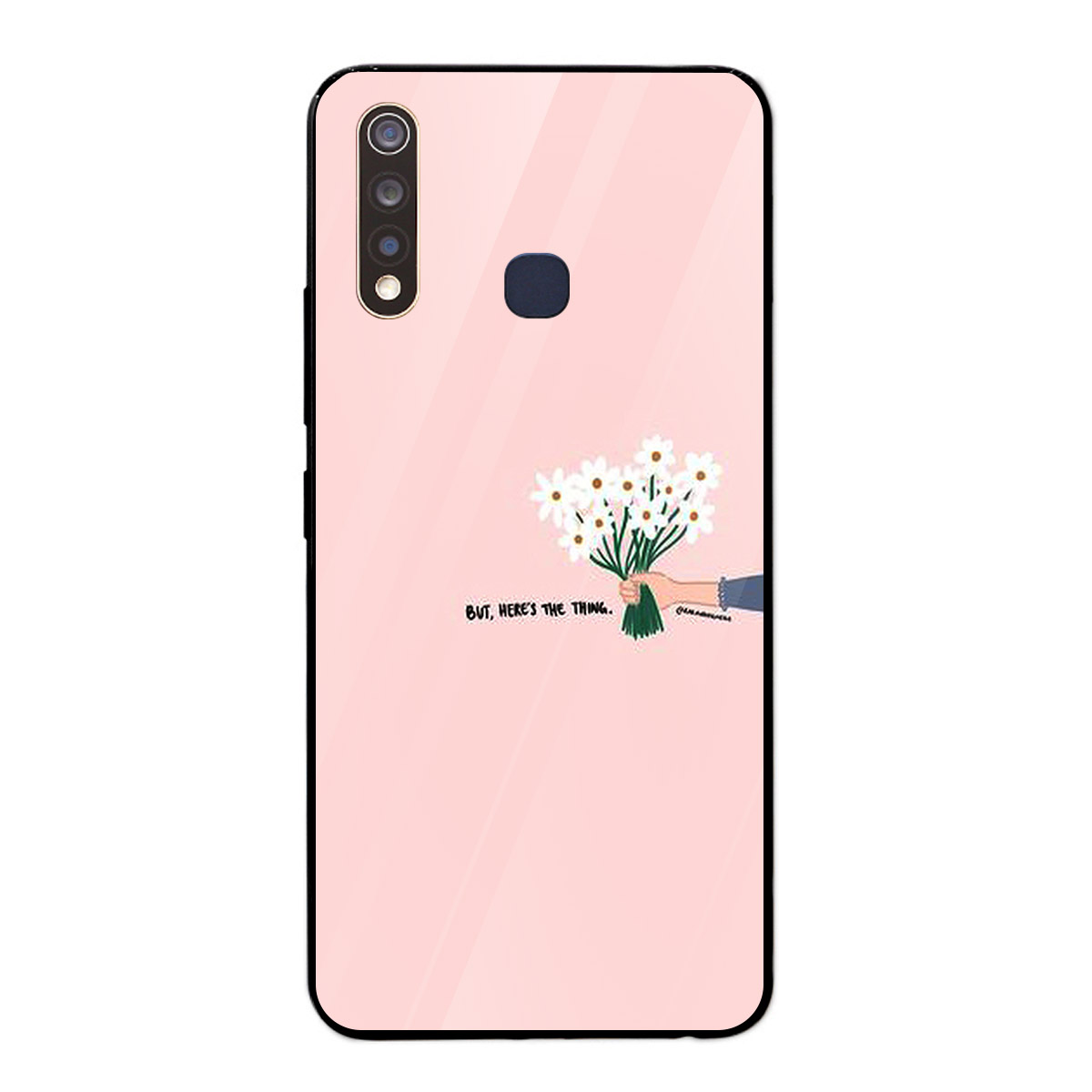 Ốp lưng dành cho điện thoại Vivo Y19 in họa tiết FLWR0038 -Cánh tay cầm bó hoa