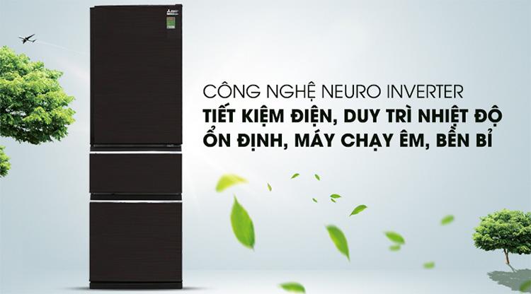 Tủ Lạnh Inverter Mitsubishi Electric MR-CX35EM-BRW (272L)