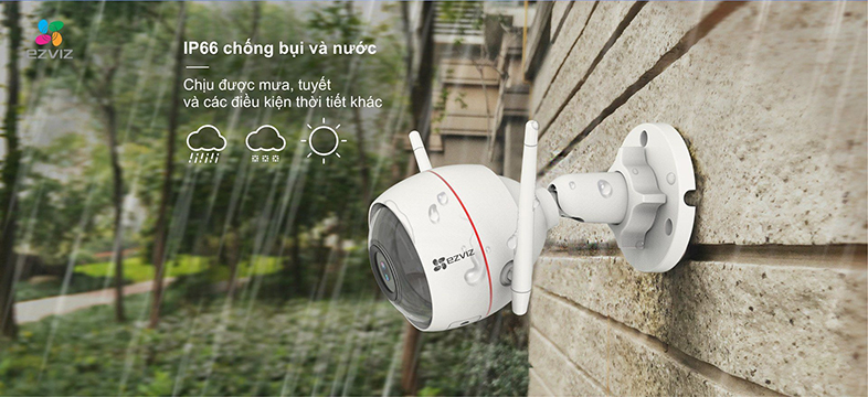 Camera IP Wifi EZVIZ C3W 1080P có đèn còi - đàm thoại 2 chiều - hổ trợ thẻ nhớ lên đến 256G - hàng nhập khẩu 7