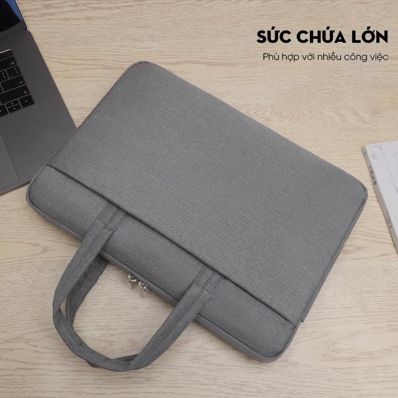 Túi đựng Laptop, túi xách Macbook dành cho công sở, văn phòng, chống nước, đựng vừa laptop 15,6 inch, nhiều ngăn 6