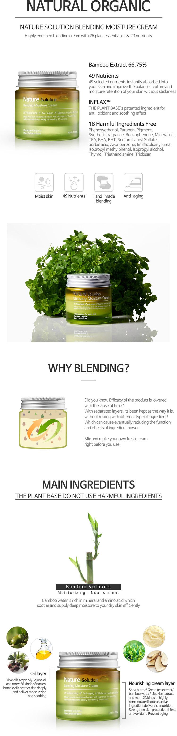 Kem Dưỡng Ẩm Và Làm Mềm Da Nature Solution Blending Moisture Cream