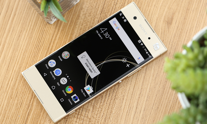 Sony Xperia XA1 Plus (G3426) 4GB/32GB 5.5-inches Dual SIM Factory Unlocked - International Stock No Warranty (Gold)