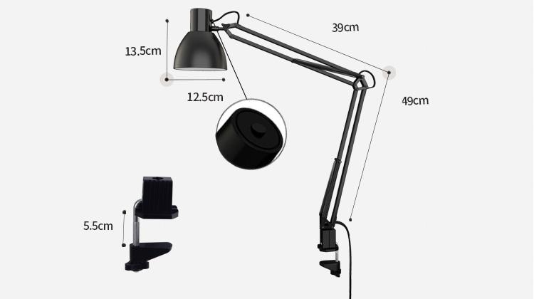 Đèn Bàn Làm Việc Bảo Vệ Mắt TG801-S-BK
