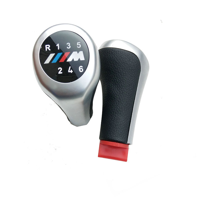 5 Speed 6 Speed Car Gear Shift Knob For BMW 1 3 5 6 Series M Logo E30 E32 E34 E36 E38 E39 E46 E53 E60 E63 E83 E84 E90 E91 Matt