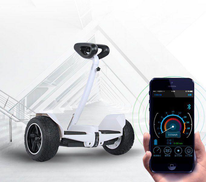 Xe điện cân bằng siêu cấp - 2 tay điều khiển và chân kẹp - Phát nhạc Bluetooth 3