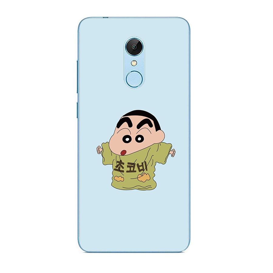 Ốp lưng cứng viền dẻo dành cho điện thoại Xiaomi Redmi Note 5/5 Pro - Shin mặc đồ của bố MS ADITU005
