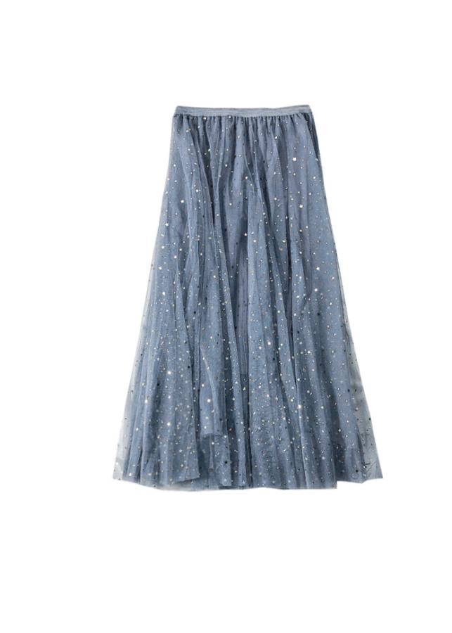 Chân váy ren Tulle - Tutu xòe tròn đính trăng sao lấp lánh giá siêu tốt VAY21 Free size 6