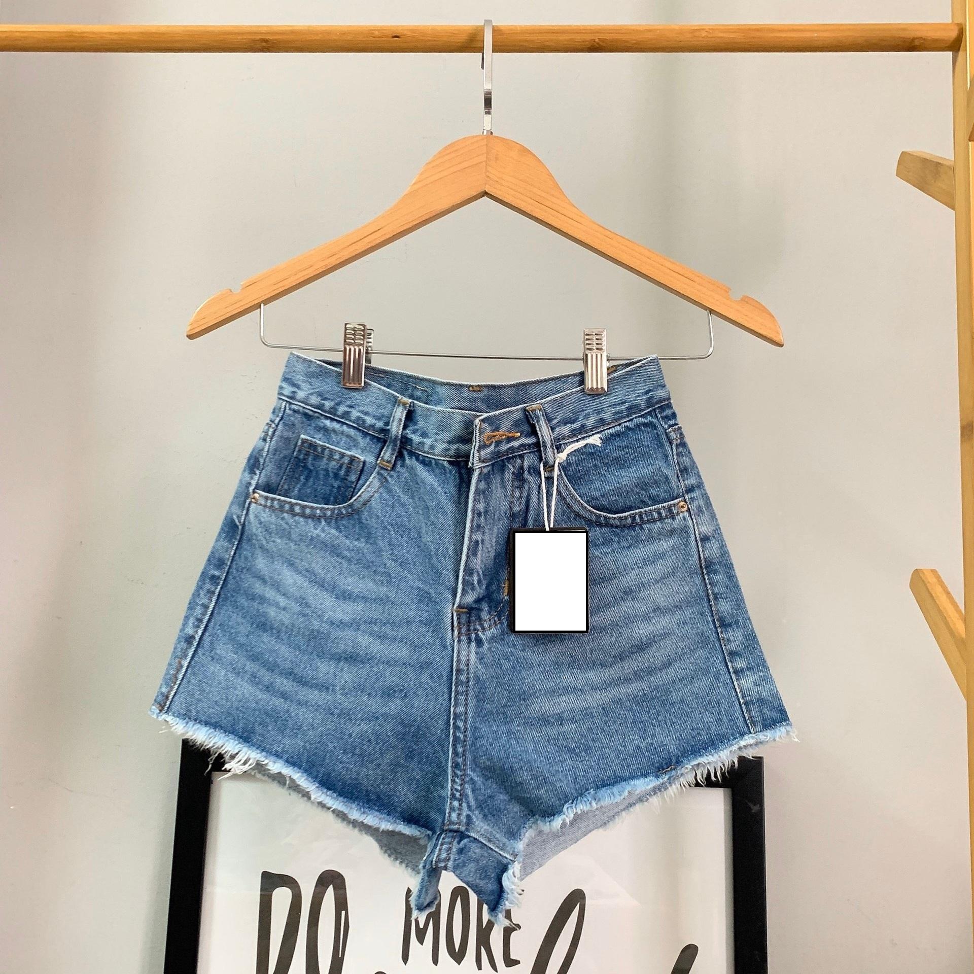 Quần short nữ chất jean cotton lưng cao M06 Julido, thời trangg trẻ trung một màu họa tiết trơn phối rách tua co dãn nhẹ có 3 kích thước 1