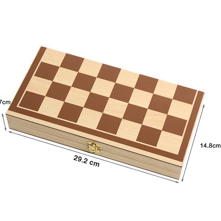 Bộ cờ vua cao cấp, đồ chơi làm bằng gỗ tự nhiên không độc hại dành cho trẻ em, môn thể thao phát triển trí tuệ - Tặng Kèm Móc Khóa 4Tech. 6