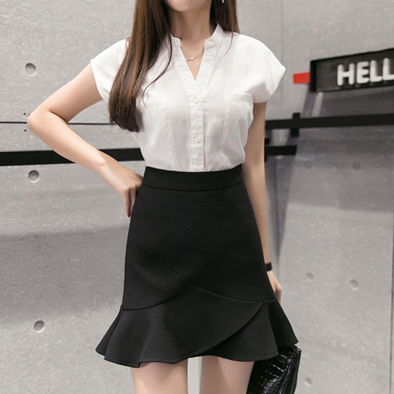 Chân váy công sở đẹp Louro L700, có lớp lót quần bên trong, dáng ngắn chữ A vẩy đuôi cá nhẹ, dễ kết hợp trang phục, đi làm đi chơi,tặng quần mặc trong váy cotton cao cấp 3