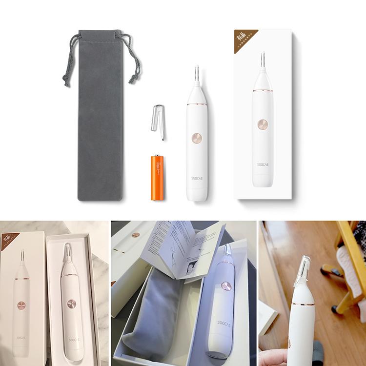 XIAOMI SOOCAS Nose Hair Trimmer N1 Eyebrow Sharp Blade Body Wash Portable Minimalist Design Safe Cleaner Trim Personal