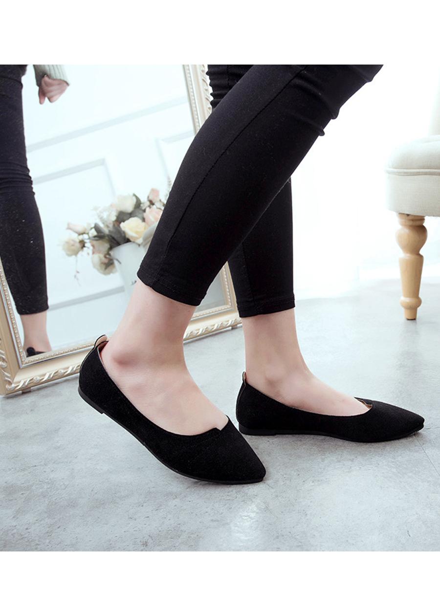 Giày đế bằng búp bê nữ da lộn full size nhiều màu V215 3