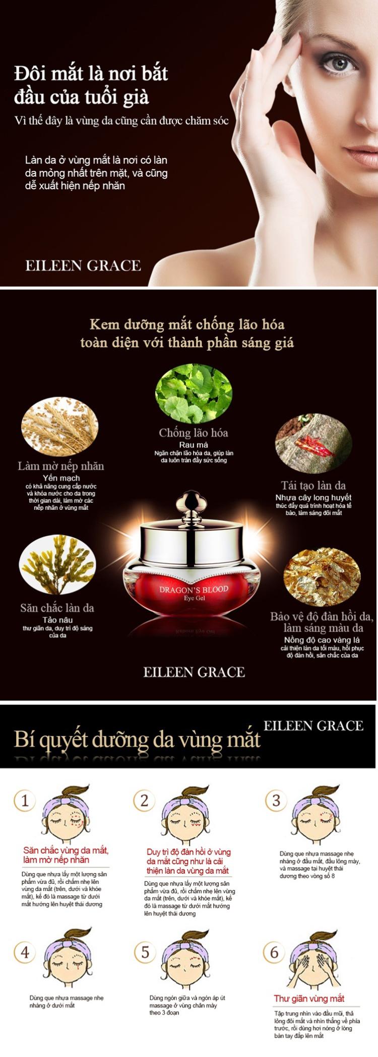 Kem dưỡng mắt phục hồi Eileen Grace (10ml)