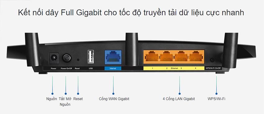 Router Gigabit Wi-Fi Băng Tần Kép AC1750 TP-Link Archer C7